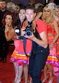 Joanne Clifton Karen Clifton Brendan Cole and Aliona Vilani attend the red carpet launch of 'Strictly Come Dancing 2015' at Elstree Studios on...
