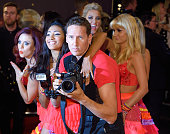 Joanne Clifton Karen Clifton Brendan Cole Natalie Lowe and Aliona Vilani attend the red carpet launch of 'Strictly Come Dancing 2015' at Elstree...