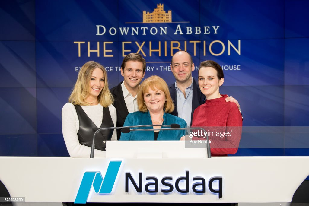 "Cast and Crew Of ""Downton Abbey"" Ring The Nasdaq Stock Market Closing Bell"