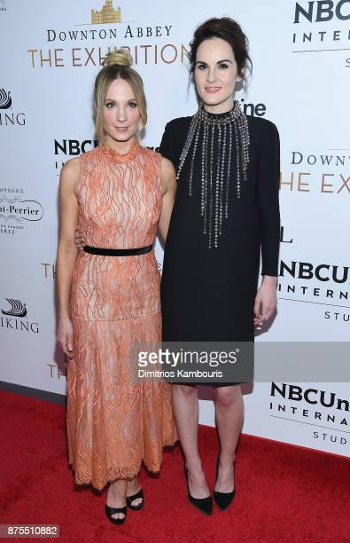 Joanne Froggatt and Michelle Dockery attend the 'Downton Abbey The Exhibition' Gala Receptionon November 17 2017 in New York City