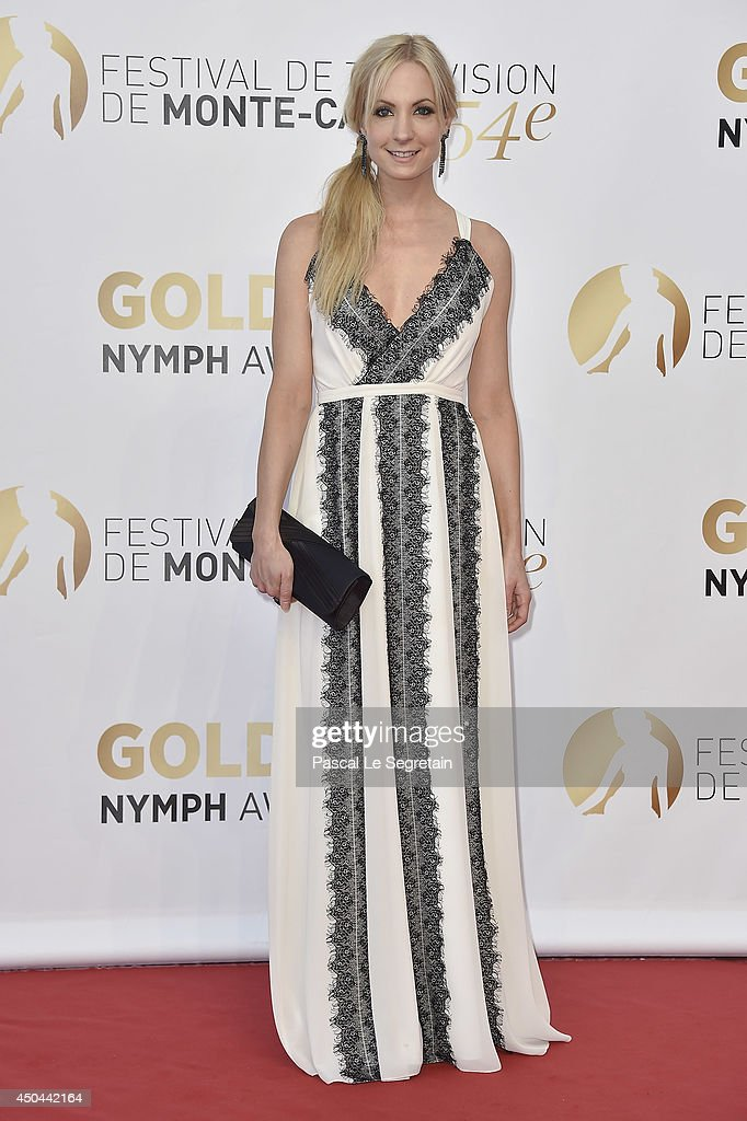 <a gi-track='captionPersonalityLinkClicked' href=/galleries/search?phrase=Joanne+Froggatt&family=editorial&specificpeople=2364245 ng-click='$event.stopPropagation()'>Joanne Froggatt</a> arrives at the closing ceremony of the 54th Monte-Carlo Television Festival on June 11, 2014 in Monte-Carlo, Monaco.