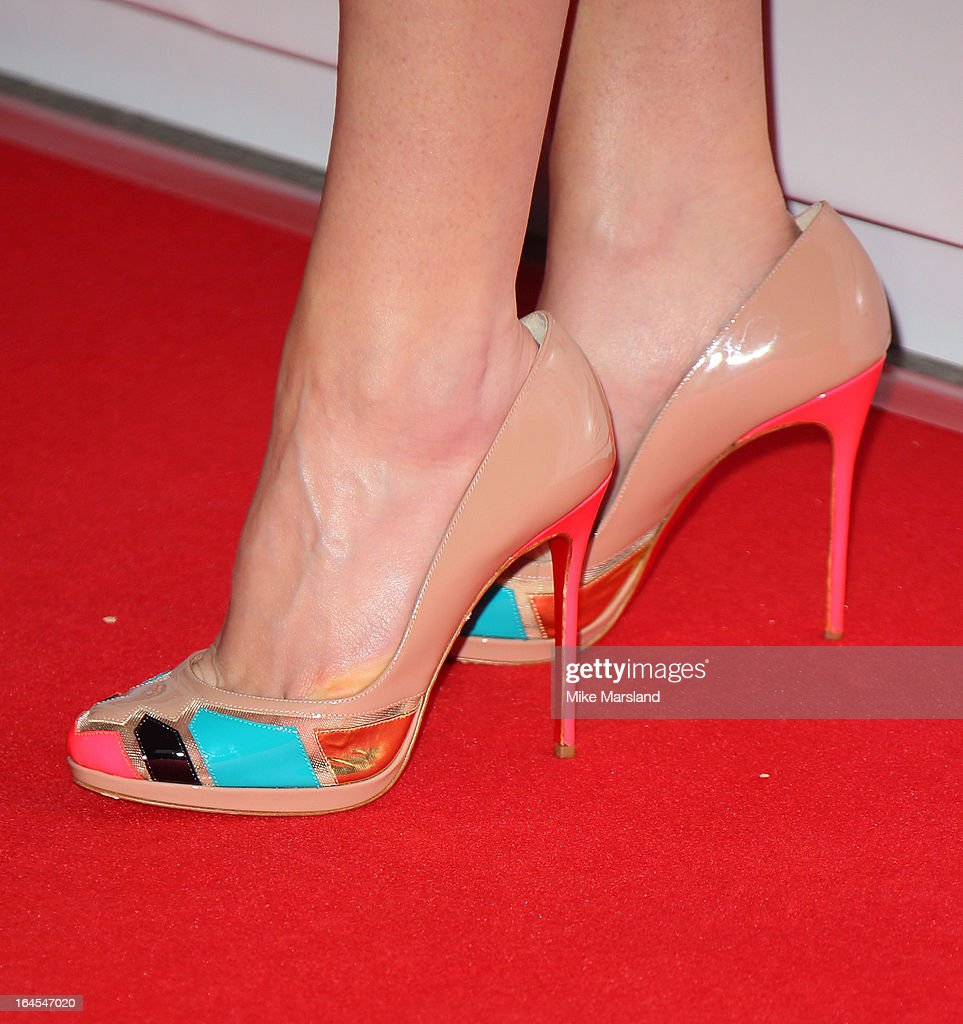 Joanne Froggatt (shoe detail) attends the 18th Jameson Empire Film Awards at Grosvenor House, on March 24, 2013 in London, England.