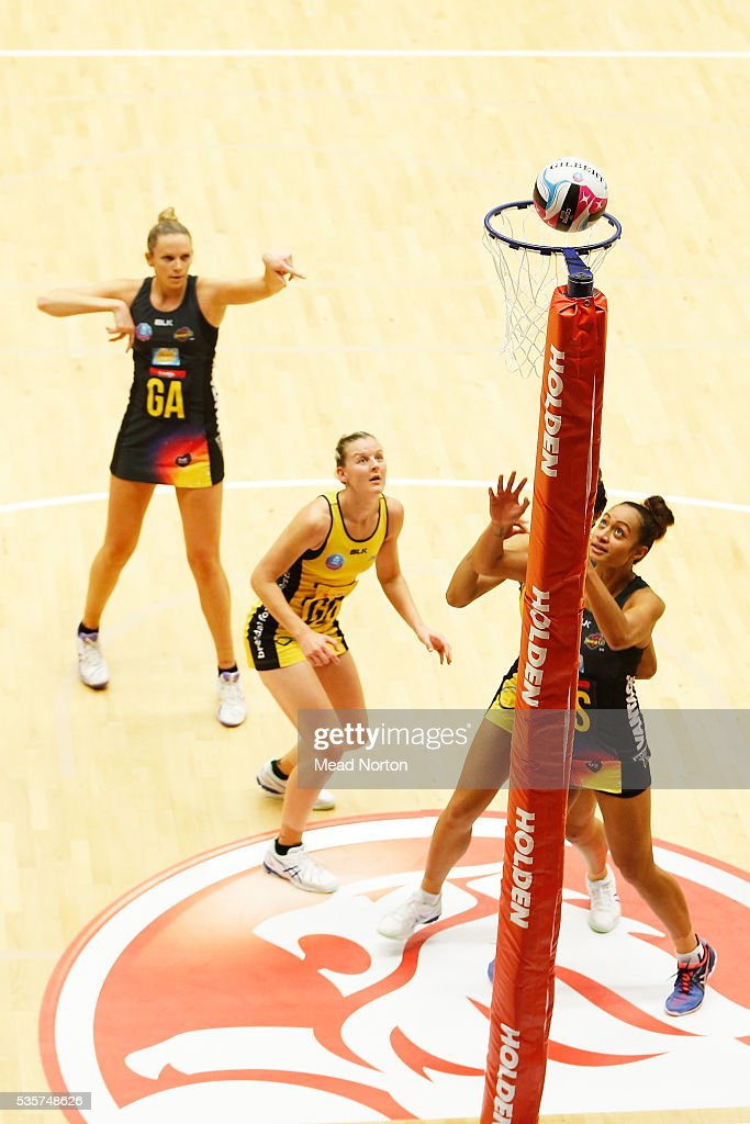 Joanne Harten of the BOP MAgic during the round nine ANZ Championship match between the Magic and the Pulse at ASB Baypark Stadium on May 30, 2016 in Mount Maunganui, New Zealand.