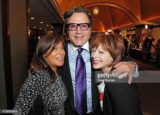Joanne Horowitz Frank Stallone and Frances Fisher attend the after party for the TMA 2015 Heller Awards at the Hyatt Regency Century Plaza on May 28...