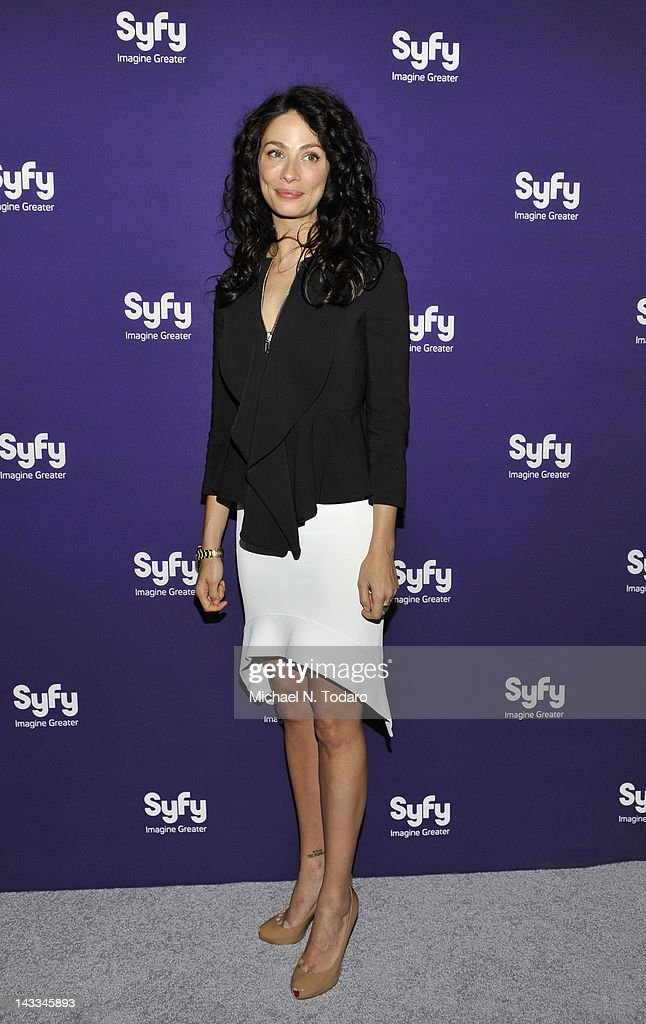 Joanne Kelly attends the Syfy 2012 Upfront event at the American Museum of Natural History on April 24, 2012 in New York City.