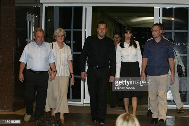 Joanne Lees and the Falconio family are seen on December 13 2005 in Darwin Australia July 14 2011 marks the ten year anniversary of the disappearance...