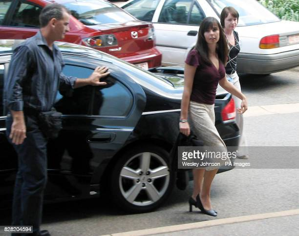 Joanne Lees girlfriend of murdered man Peter Falconio arrives at the Northern Territory Supreme Court in Darwin Australia Monday October 31 2005 The...