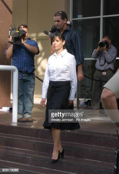 Joanne Lees the girlfriend of British backpacker Peter Falconio who was killed 14/7/2001 in the Australian outback leaving court in Darwin Monday...