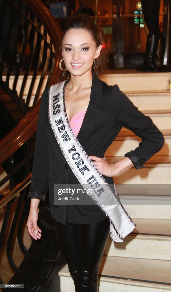 Joanne Nosuchinsky , Miss New York USA 2013 attends the Caravan Stylist Studio New York Presentation at the Carlton Hotel on February 12, 2013 in New York City.