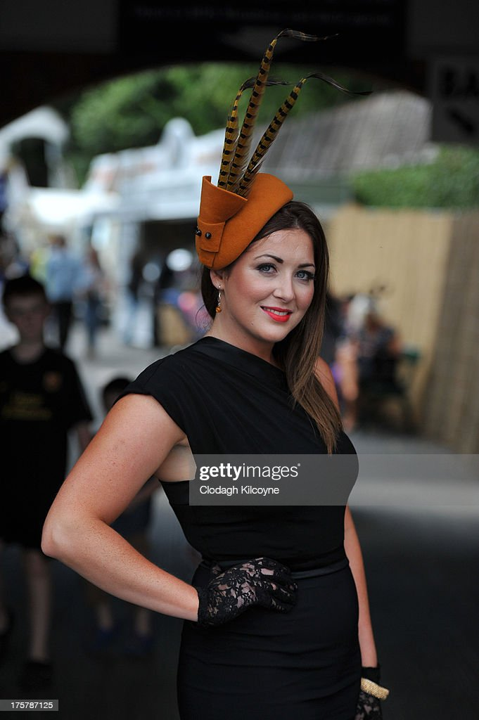 Joanne O'Hora takes part in ladies day at the Royal Dublin Society Dublin horse show at Royal Dublin Society on August 8, 2013 in Dublin, Ireland.