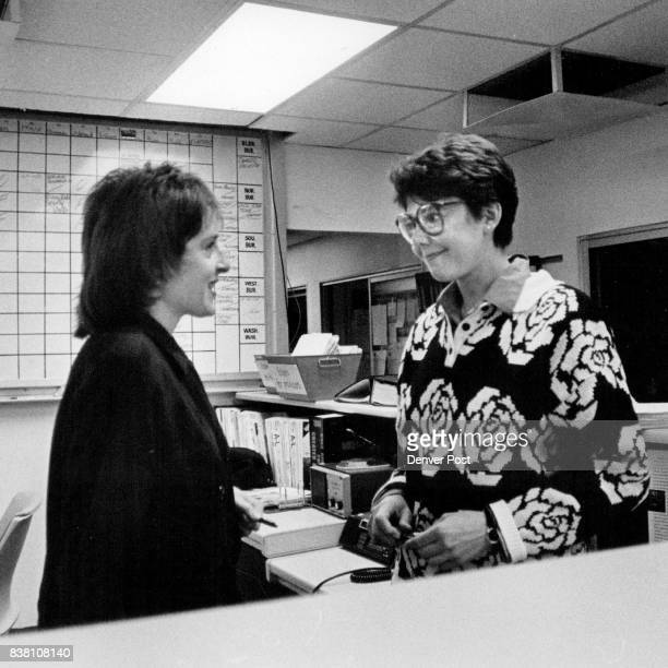 Joanne Ostrow As TV Reporter Here We Have Ashot Of L To R Joanne OstrowTalking With Assignment Editor Barbara Dodge Credit The Denver Post