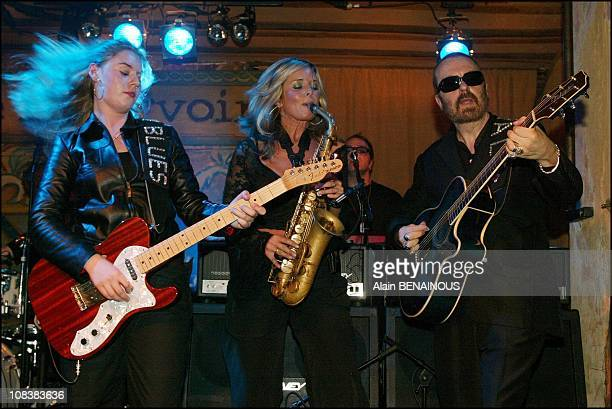 Joanne Shaw Taylor Candy Dulfer Dave Stewart in Paris France on November 12 2002