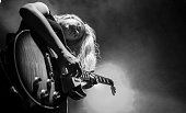 Joanne Shaw Taylor performs on stage in Leamington Spa on 3 July 2014