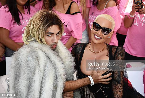 Joanne the Scammer and model Amber Rose attend the Amber Rose SlutWalk 2016 at Pershing Square on October 1 2016 in Los Angeles California