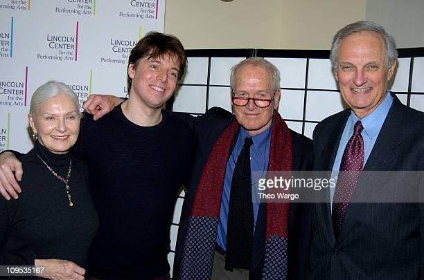 Joanne Woodward Joshua Bell Paul Newman and Alan Alda