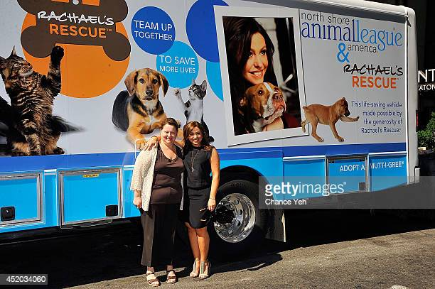 Joanne Yohannan and Rachael Ray attend Rachael Ray gives shelter cats makeovers to help launch the 'Shelter Cats Are Beautiful' campaign at Global...