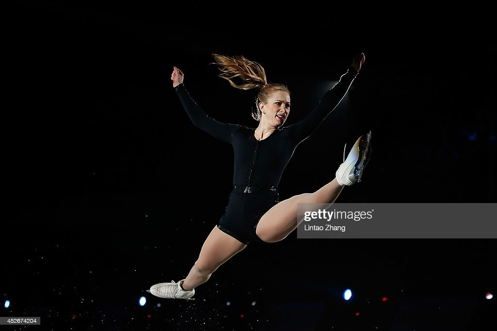 Joannie Rochette of Canada performs during the 2014 Artistry On Ice Beijing at Beijing MasterCard Center on July 25, 2014 in Beijing, China.