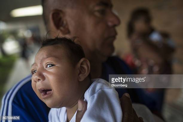 Joao Batista holds onemonthold daughter Alice Vitoria at the AACD Hospital in Recife Brazil on Wednesday Jan 20 2016 Alice Vitoria was born with...