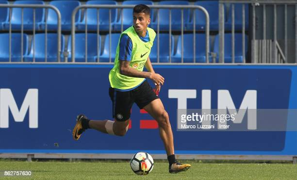 Joao Cancelo of FC Internazionale in action during the FC Internazionale training session at the club's training ground Suning Training Center in...