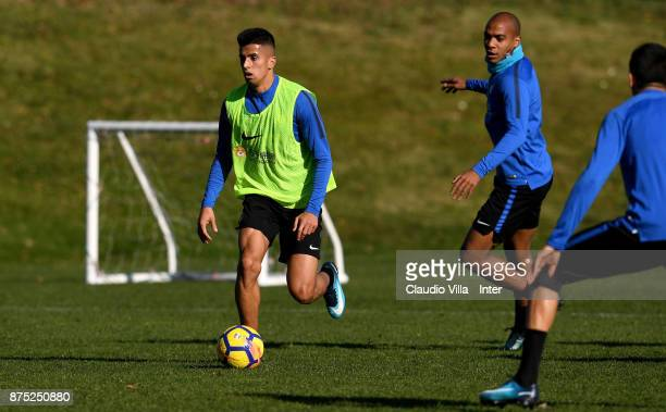 Joao Cancelo of FC Internazionale in action during the FC Internazionale training session at Suning Training Center at Appiano Gentile on November 17...