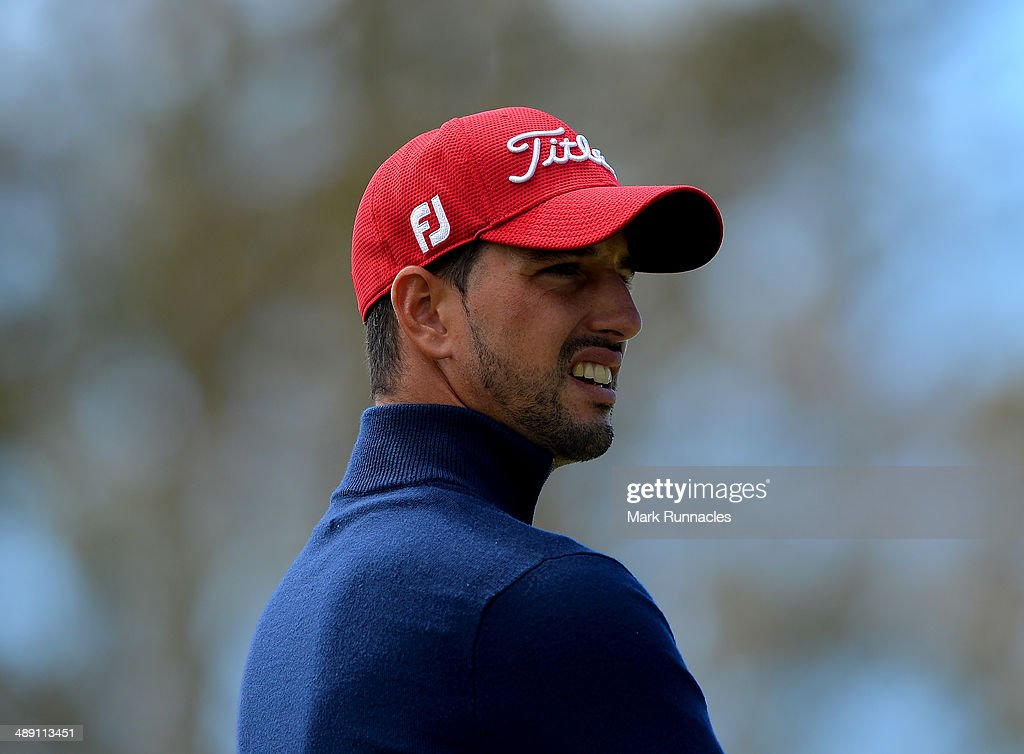Joao Carlota of Portugal watches on from the 7th tee during the Madeira Islands Open - Portugal - BPI at Club de Golf do Santo da Serra on May 10, 2014 in Funchal, Madeira, Port gal.