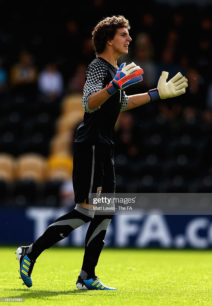 Joao Costa of Portugal in action during the match between England U17 and Portugal U17 at Pirelli Stadium on September 2, 2012 in Burton-upon-Trent, England.