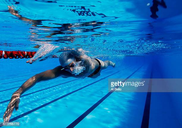 Joao De Lucca of Brazil trains in the warmup pool during the Maria Lenk Trophy competition at the Aquece Rio Test Event for the Rio 2016 Olympics at...
