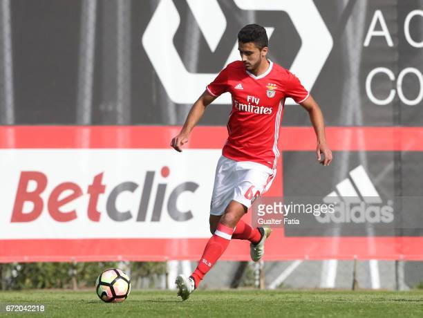 Joao Escoval of SL Benfica B in action during the Segunda Liga match between SL Benfica B and FC Porto B at Caixa Futebol Campus on April 23 2017 in...