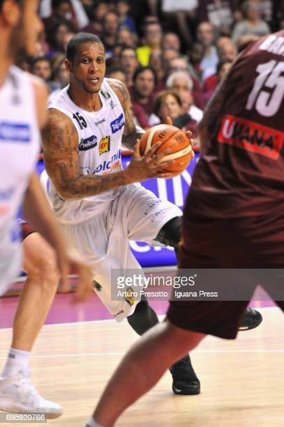 Joao Gomes of Dolomiti in action during the match game 2 of play off final series of LBA Legabasket of Serie A1 between ReyerUmana Venezia and Aquila...
