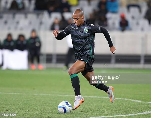 Joao Mario Eduardo of Sporting Club de Portugal during the 2015 Cape Town Cup match between Ajax Cape Town and Sporting Lisbon at Cape Town Stadium...