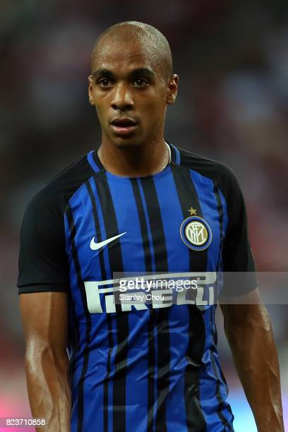 Joao Mario of FC Internazionale during the International Champions Cup match between FC Bayern and FC Internazionale at National Stadium on July 27...