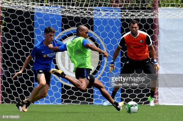 Joao Mario of FC Internazionale in action during a FC Interazionale training session at Suning training center on July 20 2017 in Nanjing China