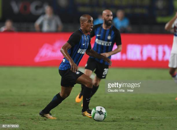 Joao Mario of FC Internazionale in action during the 2017 International Champions Cup match between FC Internazionale and Olympique Lyonnais at...
