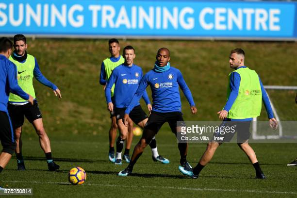 Joao Mario of FC Internazionale in action during the FC Internazionale training session at Suning Training Center at Appiano Gentile on November 17...