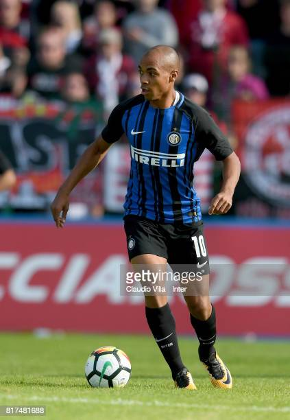 Joao Mario of FC Internazionale in action during the PreSeason Friendly match between FC Internazionale and Nurnberg on July 15 2017 in Bruneck Italy