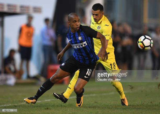 Joao Mario of FC Internazionale in action during the PreSeason Friendly match between FC Internazionale and Villareal CF at Stadio Riviera delle...