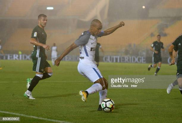 Joao Mario of FC Internazionale in action during the PreSeason Friendly match between FC Internazionale and Real Betis at Stadio Via del Mare on...