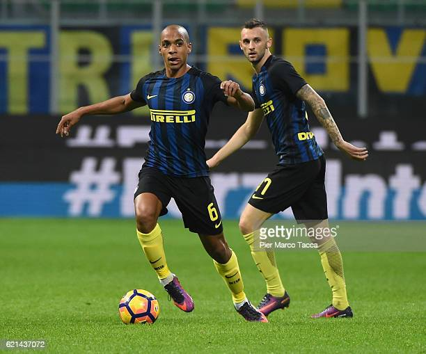 Joao Mario of FC Internazionale in action during the Serie A match between FC Internazionale and FC Crotone at Stadio Giuseppe Meazza on November 6...