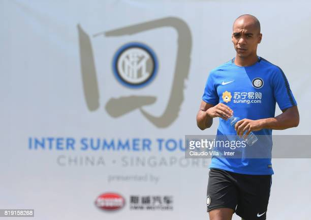 Joao Mario of FC Internazionale looks on during a FC Interazionale training session at Suning training center on July 20 2017 in Nanjing China