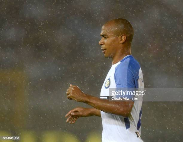 Joao Mario of FC Internazionale looks on during the PreSeason Friendly match between FC Internazionale and Real Betis at Stadio Via del Mare on...