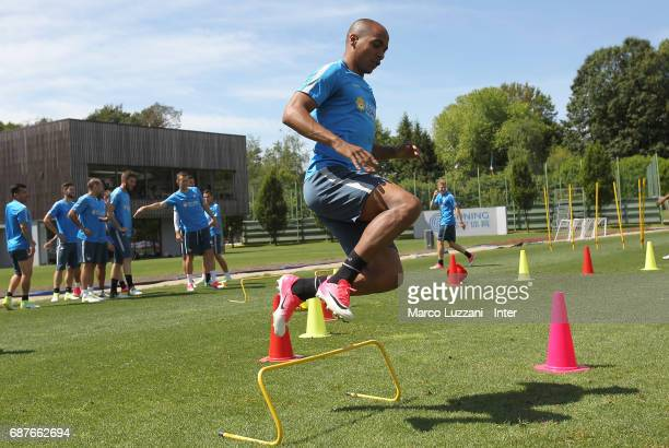 Joao Mario of FC Internazionale trains during the FC Internazionale training session at the club's training ground Suning Training Center in memory...