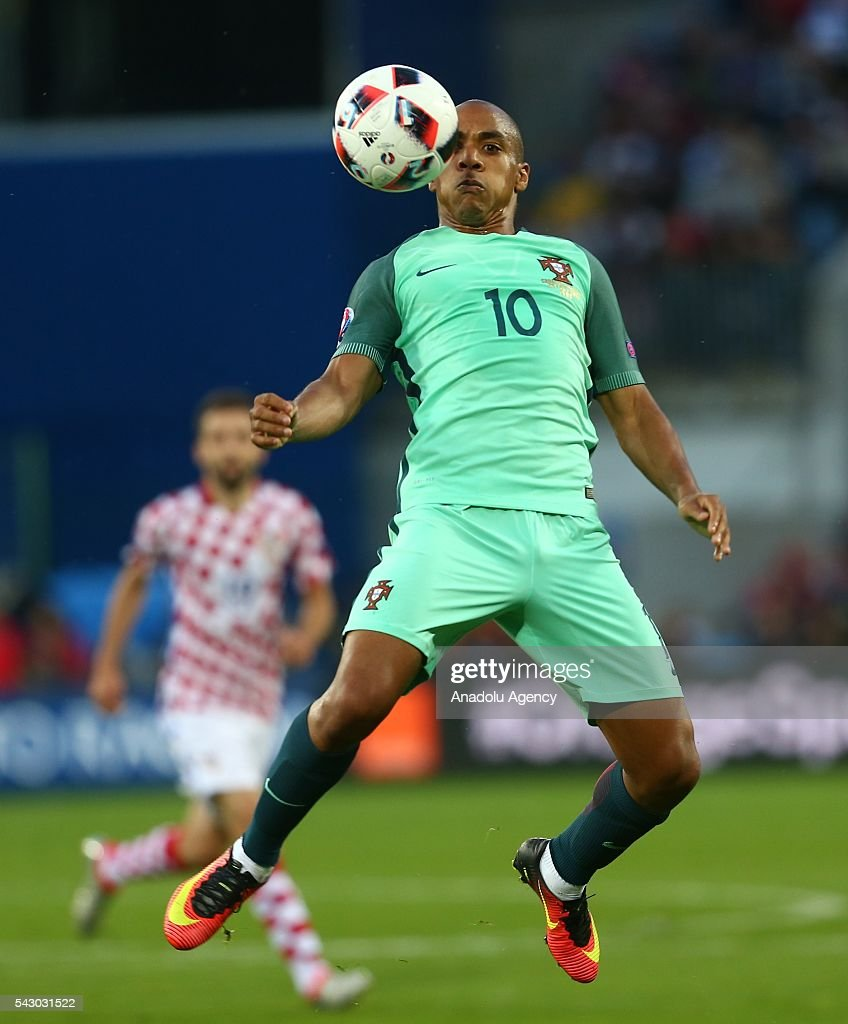 Joao Mario of Portugal in action during the Euro 2016 round of 16 football match between Croatia and Portugal at Stade Bollaert-Delelis in Lens, France on June 25, 2016.