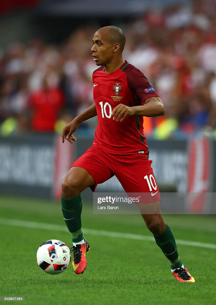 Joao Mario of Portugal in action during the UEFA EURO 2016 quarter final match between Poland and Portugal at Stade Velodrome on June 30, 2016 in Marseille, France.