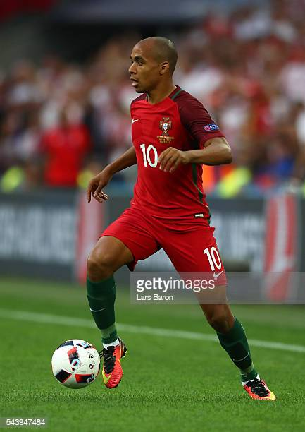 Joao Mario of Portugal in action during the UEFA EURO 2016 quarter final match between Poland and Portugal at Stade Velodrome on June 30 2016 in...