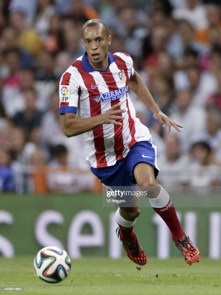 Joao Miranda de Souza Filho Mirana of Atletico de Madrid during the Spanisch Super Cup match between Real Madrid and Atletico Madrid at Estadio...