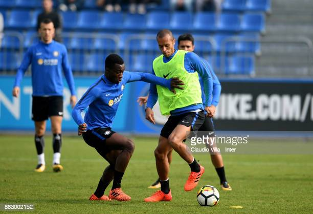 Joao Miranda de Souza Filho of FC Internazionale in action during the training session at Suning Training Center at Appiano Gentile on October 19...