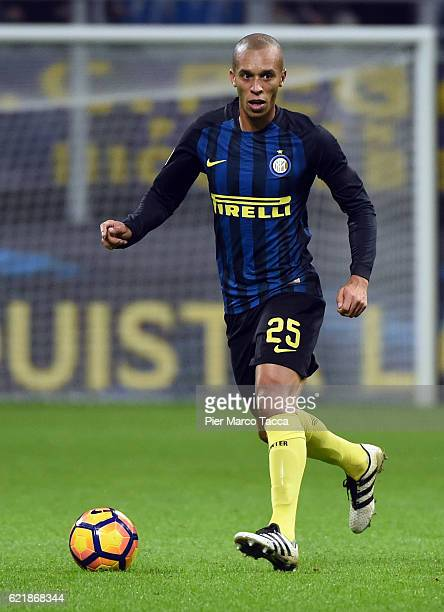 Joao Miranda of FC Internazionale in action during the Serie A match between FC Internazionale and FC Crotone at Stadio Giuseppe Meazza on November 6...
