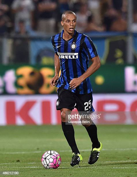 Joao Miranda of FC Internazionale Milano in action during the Serie A match between Carpi FC and FC Internazionale Milano at Alberto Braglia Stadium...