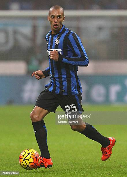 Joao Miranda of FC Internazionale Milano in action during the Serie A match between FC Internazionale Milano and Genoa CFC at Stadio Giuseppe Meazza...