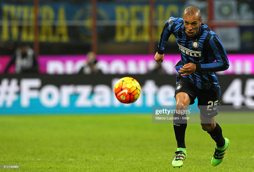 Joao Miranda of FC Internazionale Milano in action during the Serie A match between FC Internazionale Milano and UC Sampdoria at Stadio Giuseppe...